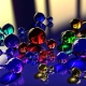 Colorful glass molecules